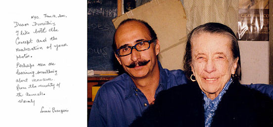 Dimitris Yeros with Louise Bourgeois